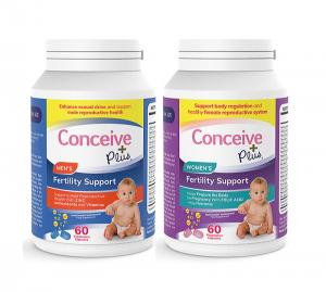 Conceive Plus kvinna Man fertilitetstillskott