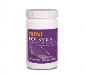 TillVal Folsyra 100 tabletter